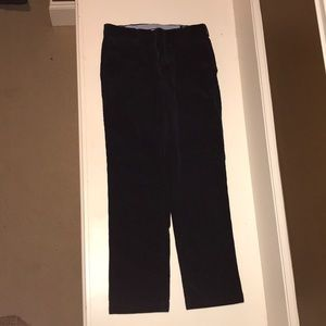 Navy polo by Ralph Lauren corduroy pants